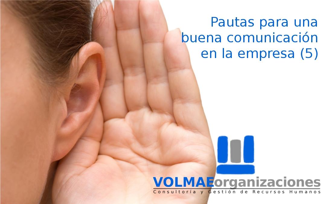 Comunicación empresa. VOLMAEorganizaciones.